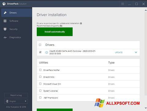 Screenshot DriverPack Solution für Windows XP