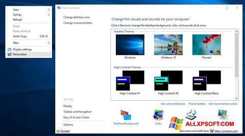 Screenshot Personalization Panel für Windows XP