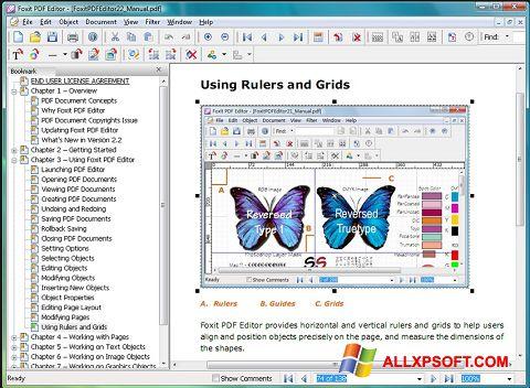 Screenshot Foxit PDF Editor für Windows XP