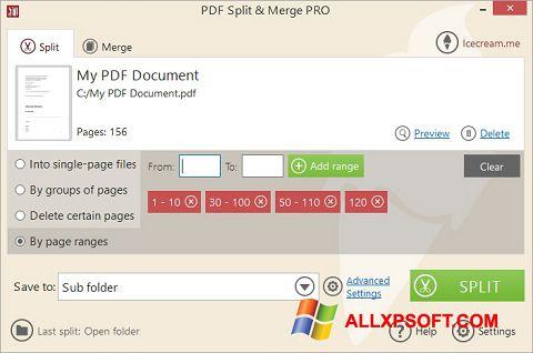 Screenshot PDF Split and Merge für Windows XP