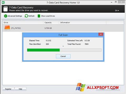 Screenshot CardRecovery für Windows XP