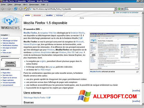 Screenshot Mozilla Firefox für Windows XP