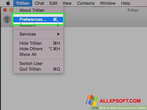 Screenshot Trillian für Windows XP