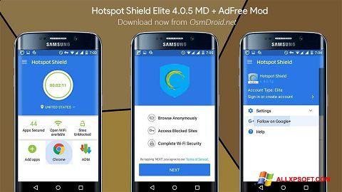 Screenshot Hotspot Shield für Windows XP