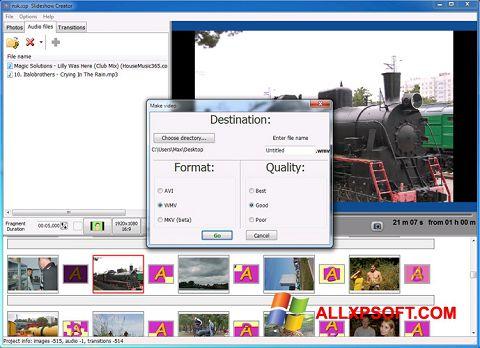 Screenshot Bolide Slideshow Creator für Windows XP
