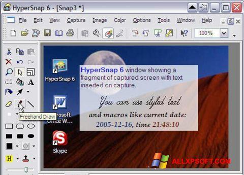 Screenshot HyperSnap für Windows XP