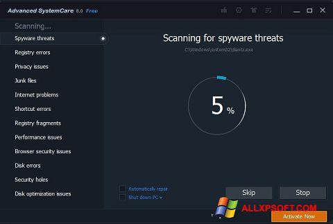Screenshot Advanced SystemCare Pro für Windows XP