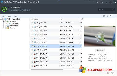 Screenshot USB Flash Drive Recovery für Windows XP
