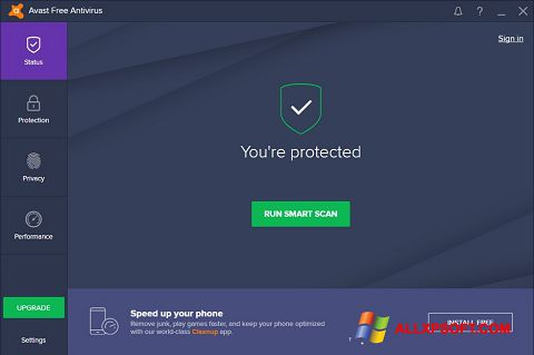Screenshot Avast Free Antivirus für Windows XP