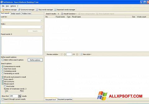 Screenshot SearchInform für Windows XP