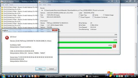 Screenshot ImgBurn für Windows XP