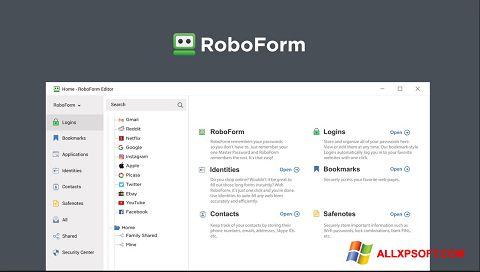 Screenshot RoboForm für Windows XP