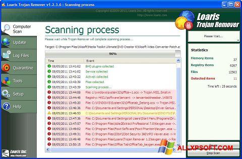Screenshot Trojan Remover für Windows XP