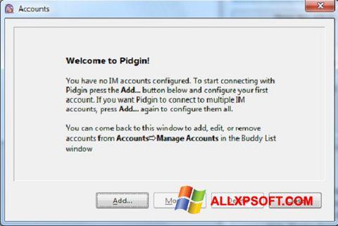 Screenshot Pidgin für Windows XP