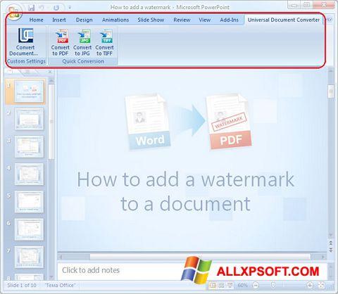 Screenshot Microsoft PowerPoint für Windows XP
