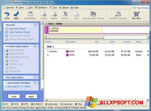 Screenshot EASEUS Partition Master für Windows XP