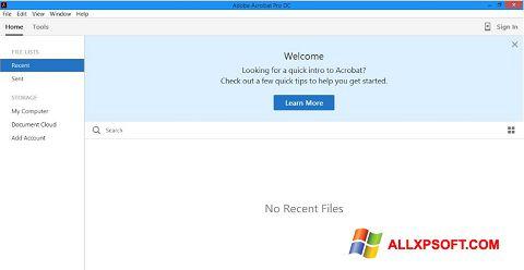 Screenshot Adobe Acrobat Pro DC für Windows XP