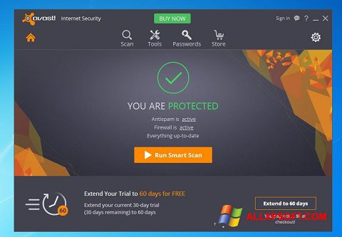 Screenshot Avast Internet Security für Windows XP