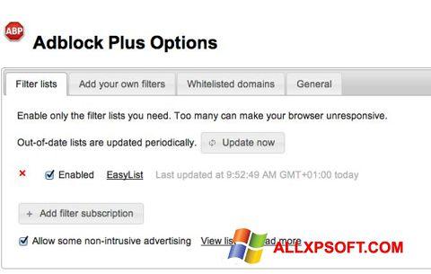 Screenshot Adblock Plus für Windows XP