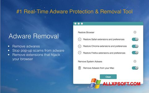 Screenshot Adware Removal Tool für Windows XP