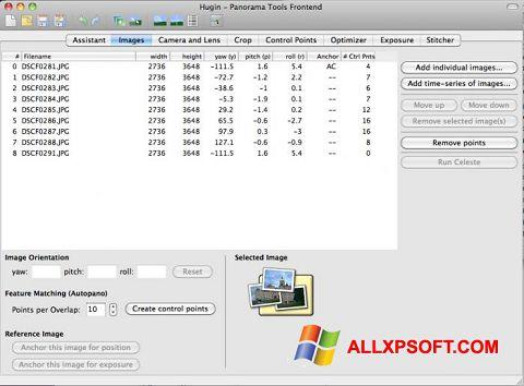 Screenshot Hugin für Windows XP