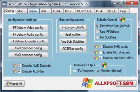 Screenshot Vista Codec Package für Windows XP