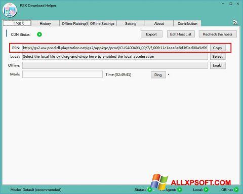 Screenshot DownloadHelper für Windows XP