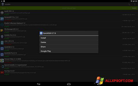 Screenshot InstAllAPK für Windows XP