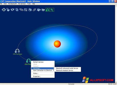 Screenshot BlueSoleil für Windows XP