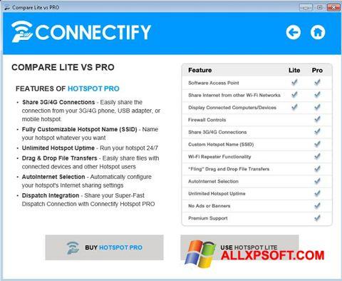 Screenshot Connectify Beta für Windows XP
