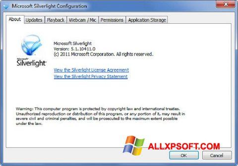 Screenshot Microsoft Silverlight für Windows XP
