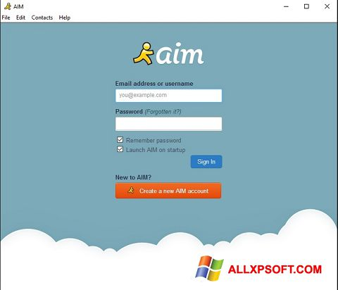 Screenshot AOL Instant Messenger für Windows XP