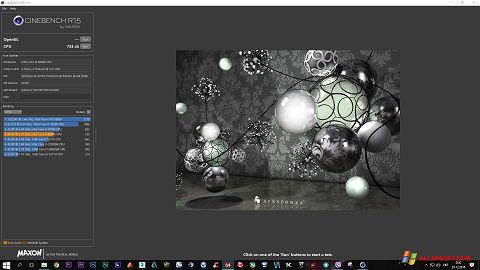 Screenshot CINEBENCH für Windows XP
