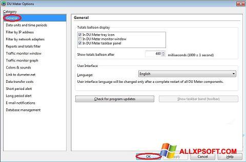 Screenshot DU Meter für Windows XP