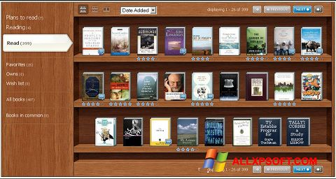 Screenshot Bookshelf für Windows XP