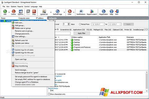 Screenshot LanAgent für Windows XP