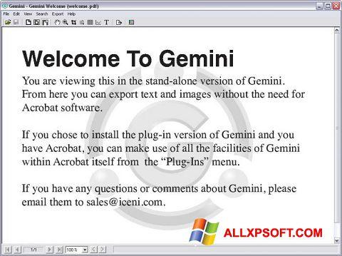 Screenshot Gemini für Windows XP
