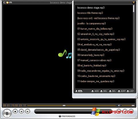 Screenshot GOM Player für Windows XP