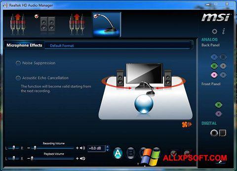 Screenshot Realtek Audio Driver für Windows XP