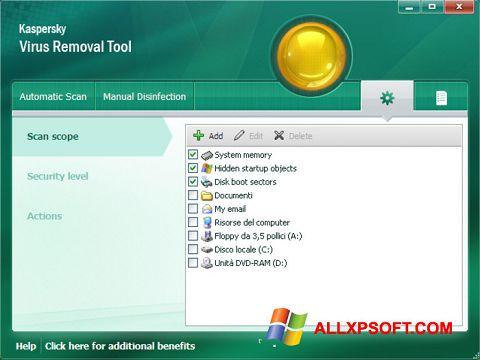 Screenshot Kaspersky Virus Removal Tool für Windows XP