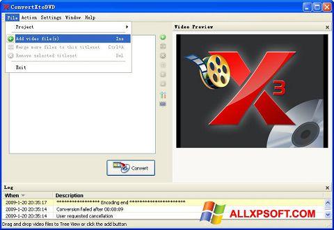 Screenshot ConvertXToDVD für Windows XP