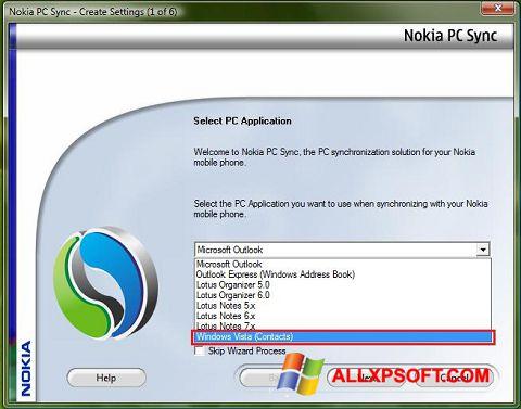 Screenshot Nokia PC Suite für Windows XP