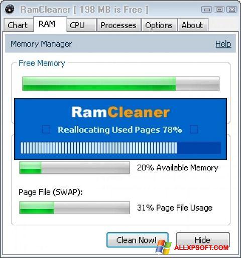 Screenshot RamCleaner für Windows XP