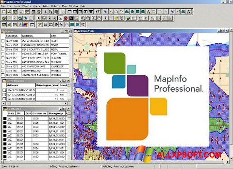 Screenshot MapInfo Professional für Windows XP