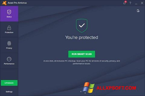 Screenshot Avast! Pro Antivirus für Windows XP