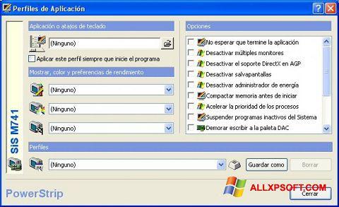 Screenshot PowerStrip für Windows XP