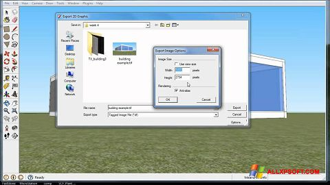Screenshot Google SketchUp für Windows XP