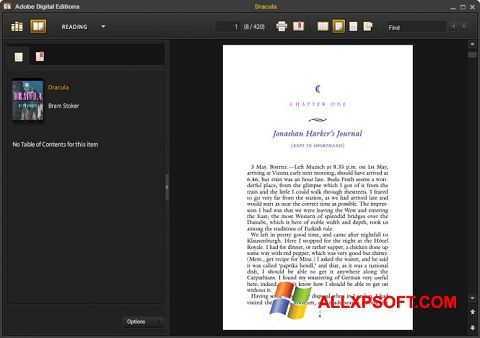 Screenshot Adobe Digital Editions für Windows XP