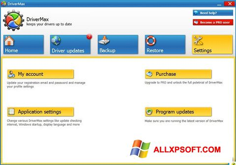 Screenshot DriverMax für Windows XP