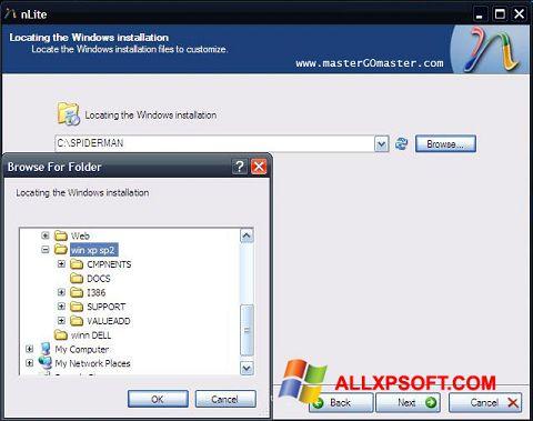 Screenshot nLite für Windows XP